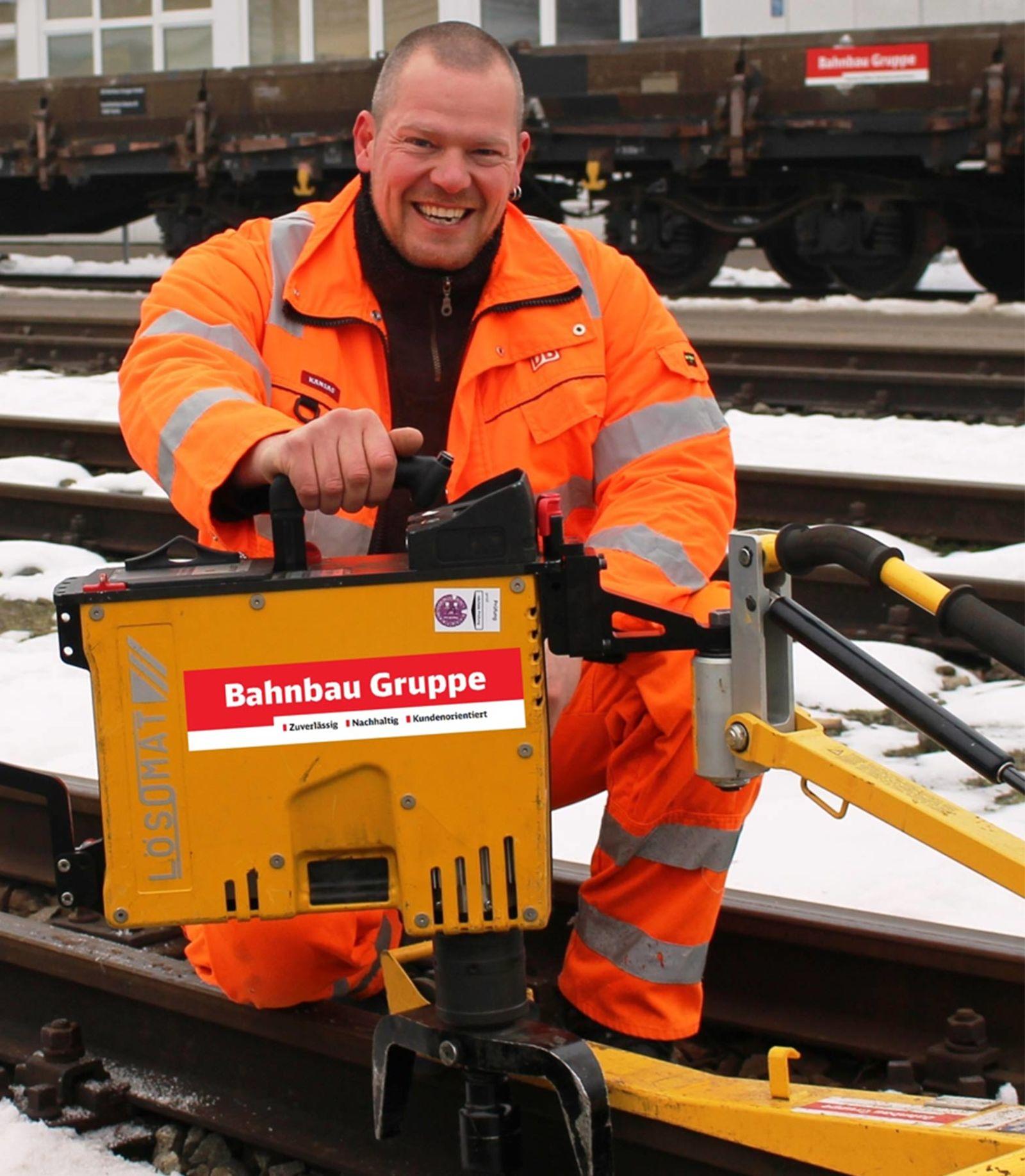 GEDORE Torque Solutions Gleisbauschrauber LDB im Einsatz bei der Deutschen Bahn